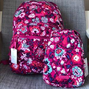 🆕Vera Bradley Essential Backpack lunch set Bloom